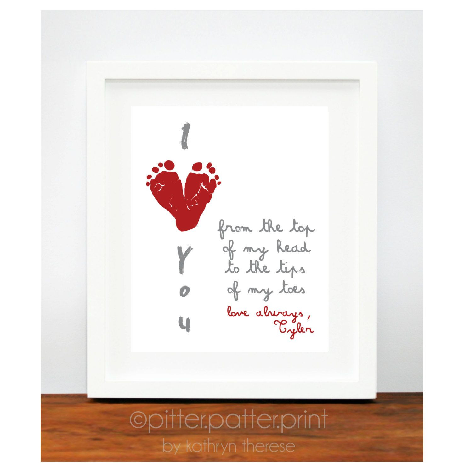 1St Father'S Day Gift Ideas From Baby  Valentines Day Gift for New Dad from Baby s First