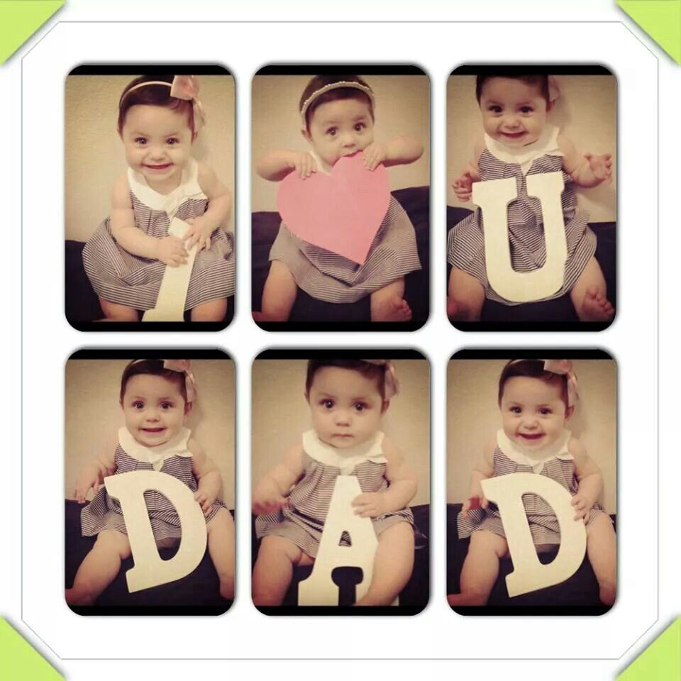 1St Father'S Day Gift Ideas From Baby  Cute fathers day diy
