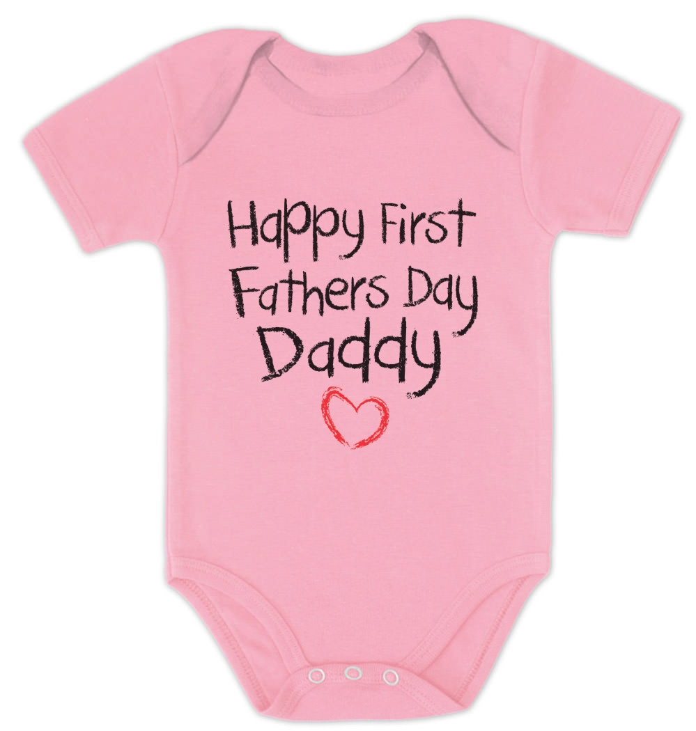1St Father'S Day Gift Ideas From Baby  Happy First Father s Day Baby esie Baby shower t idea