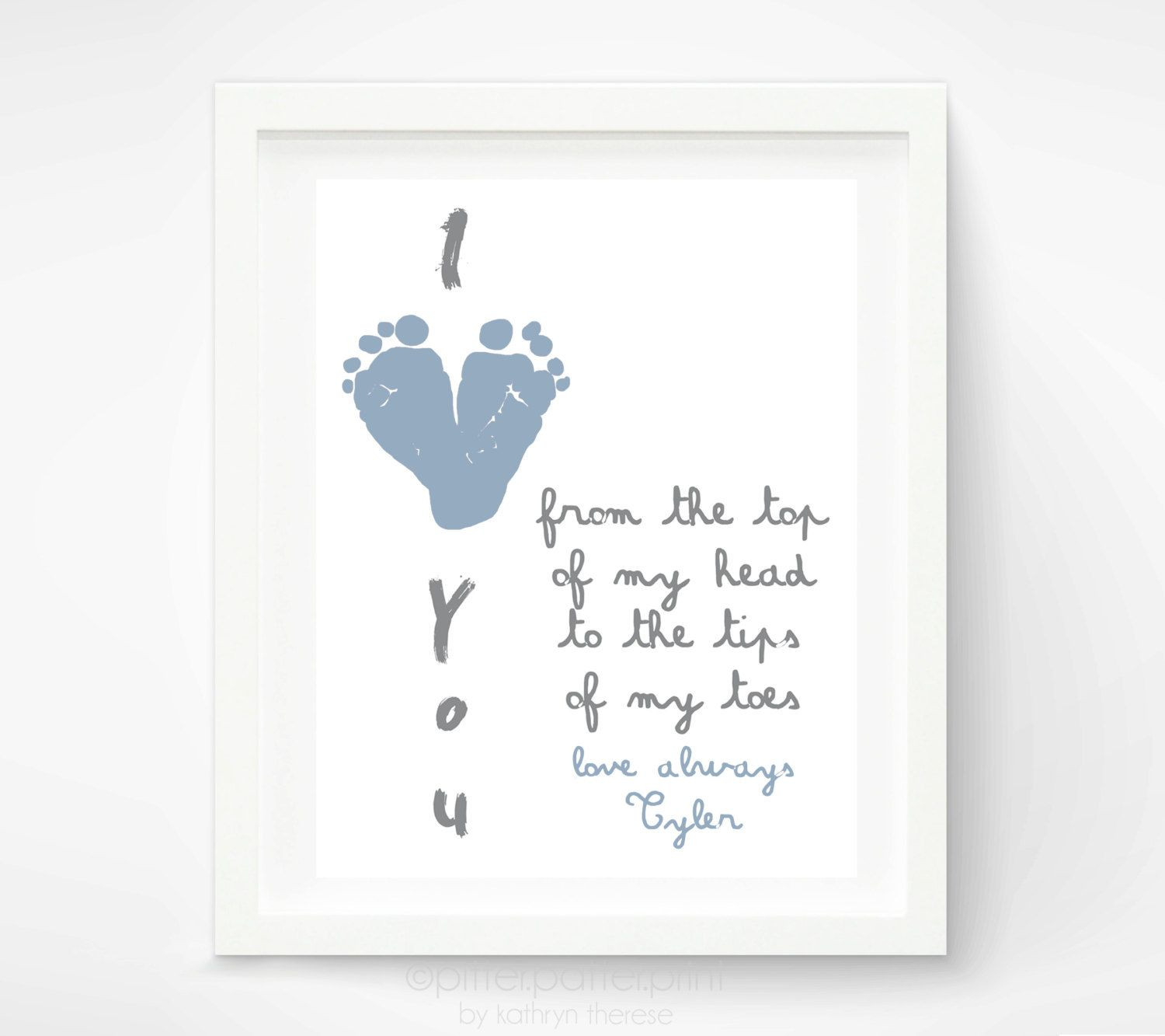 1St Father'S Day Gift Ideas From Baby  First Father s Day Gift for New Dad I Love You Daddy Baby