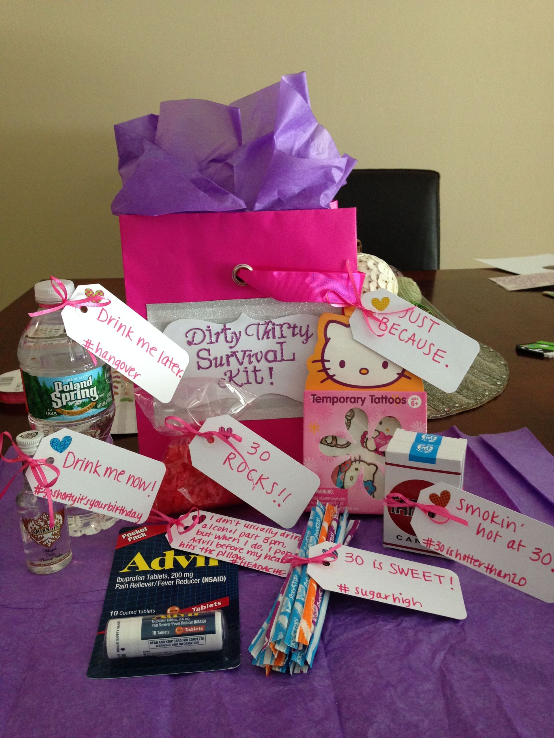30Th Birthday Gift Ideas For Friend  Pin on Party plannin