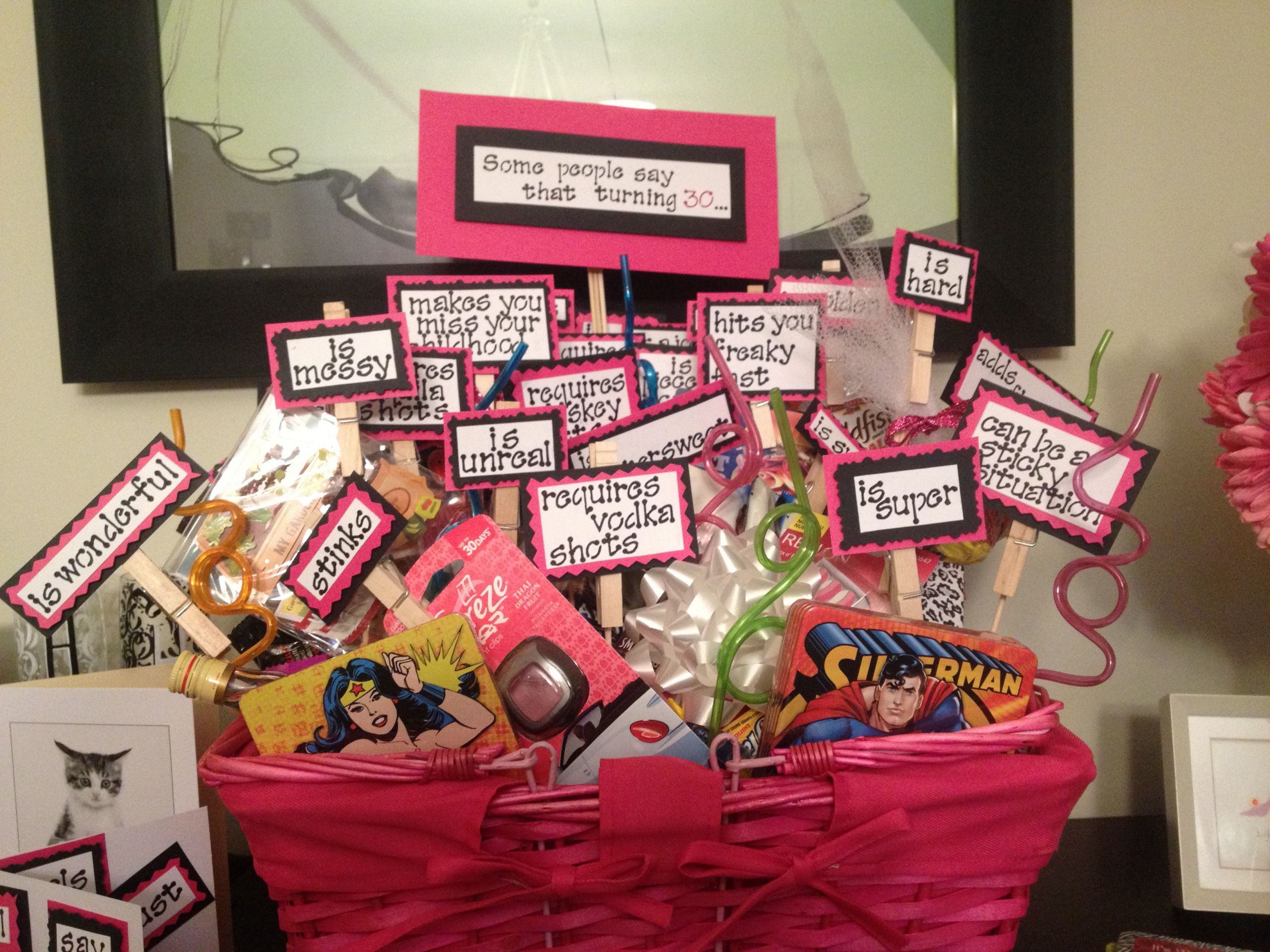 30Th Birthday Gift Ideas For Friend  Turning 30 Birthday Basket – Dispatches from the Castle