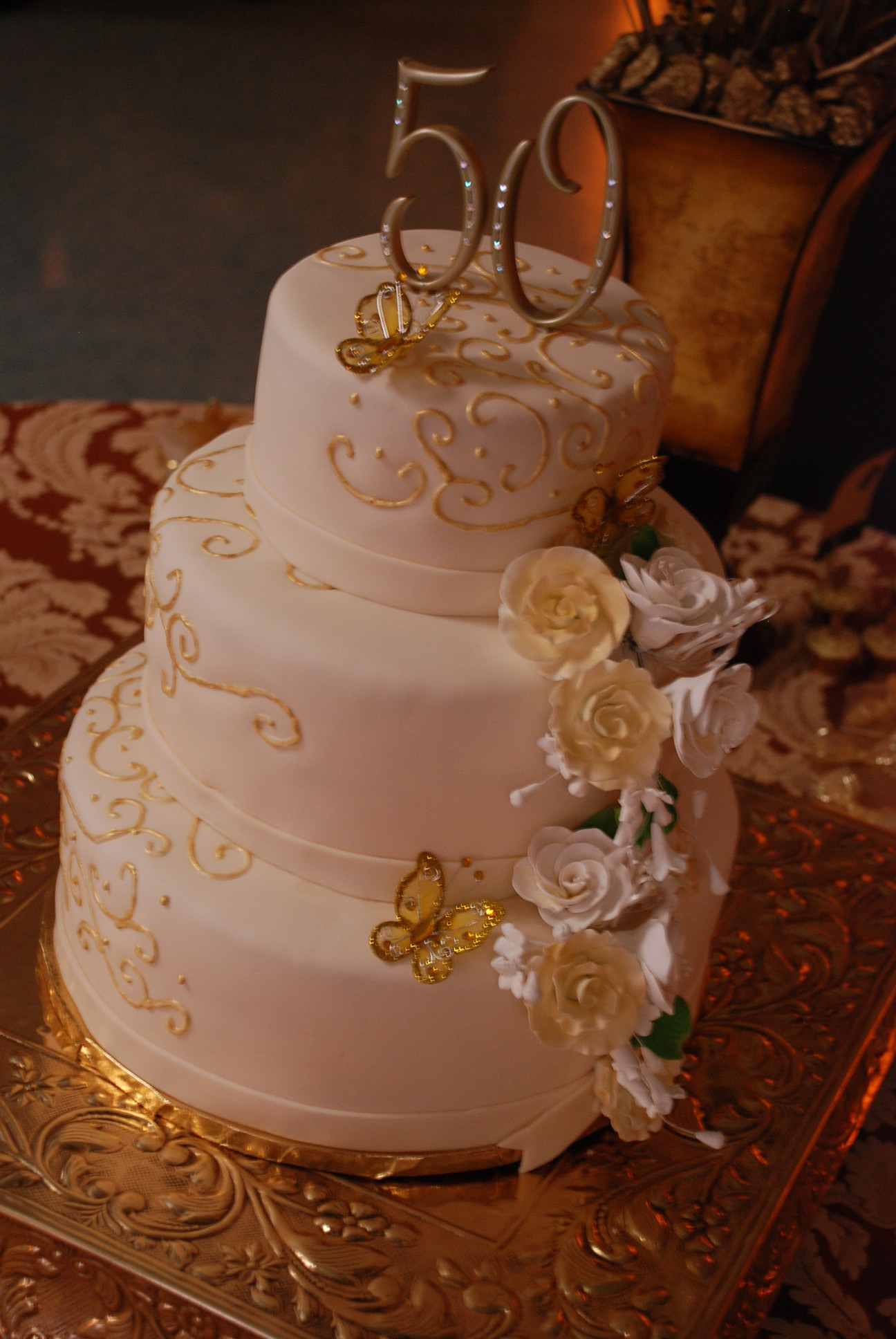 50th Birthday Cake Ideas For Her  50th Birthday in Gold