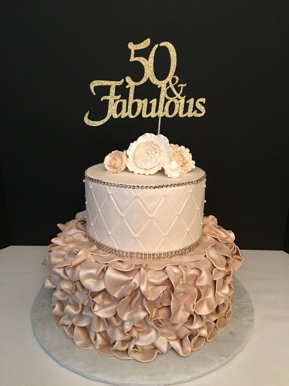 50th Birthday Cake Ideas For Her  50Th Birthday Cakes For Her Any Number Gold Glitter 50th