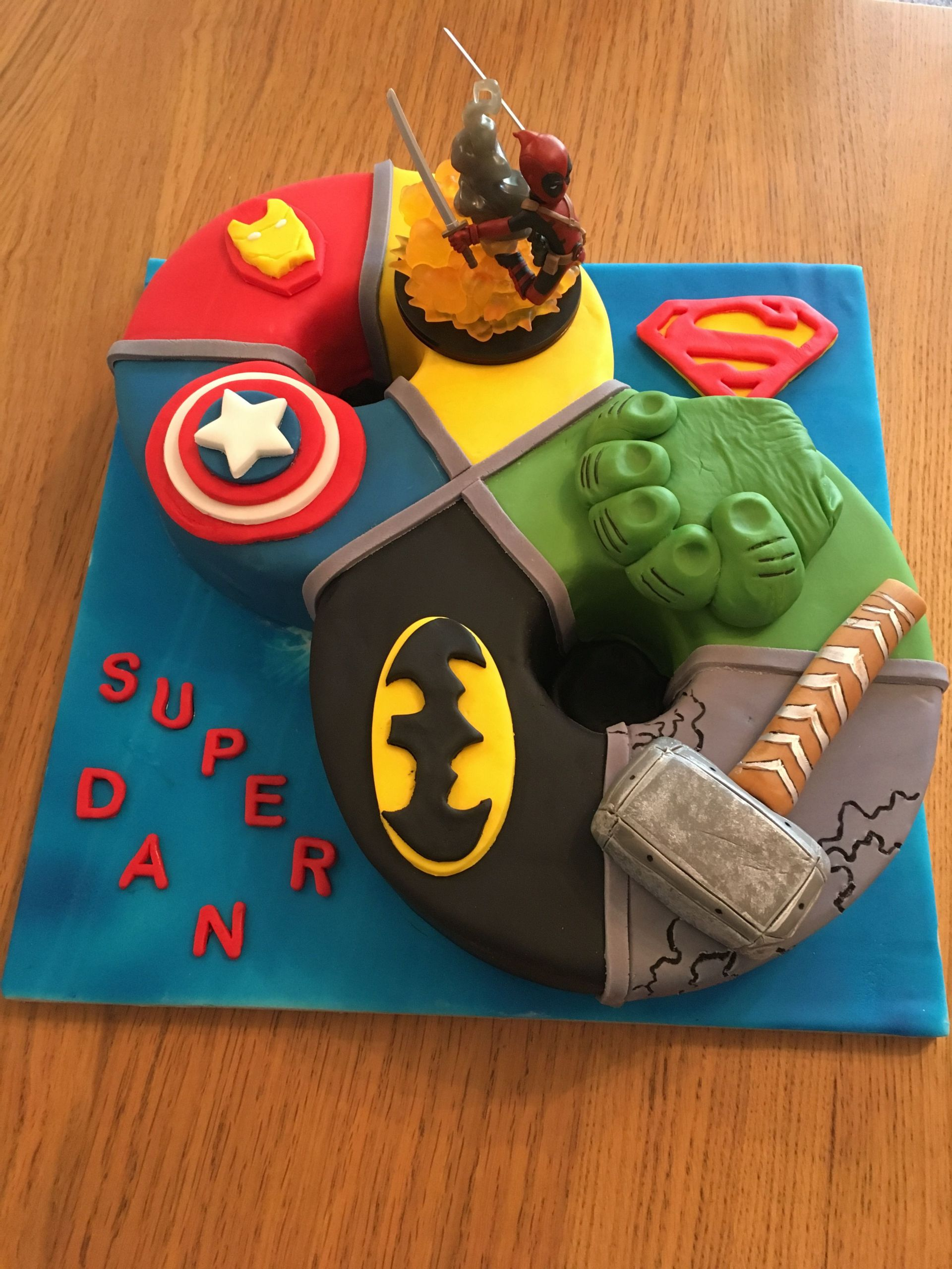 8 Year Old Boy Birthday Party Theme Ideas  Superhero birthday cake for 8 year old boy With images