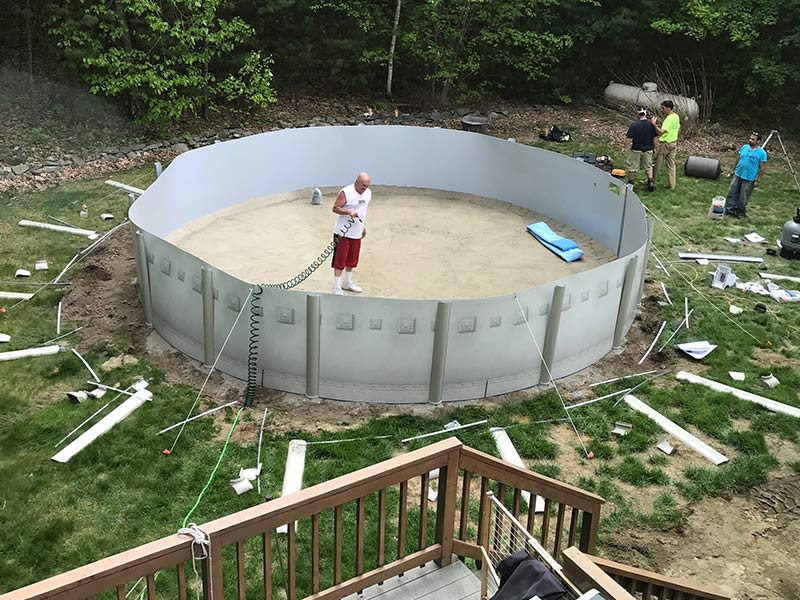 Above Ground Pool Installers  Ground Pools Spartan Concrete Services Inc