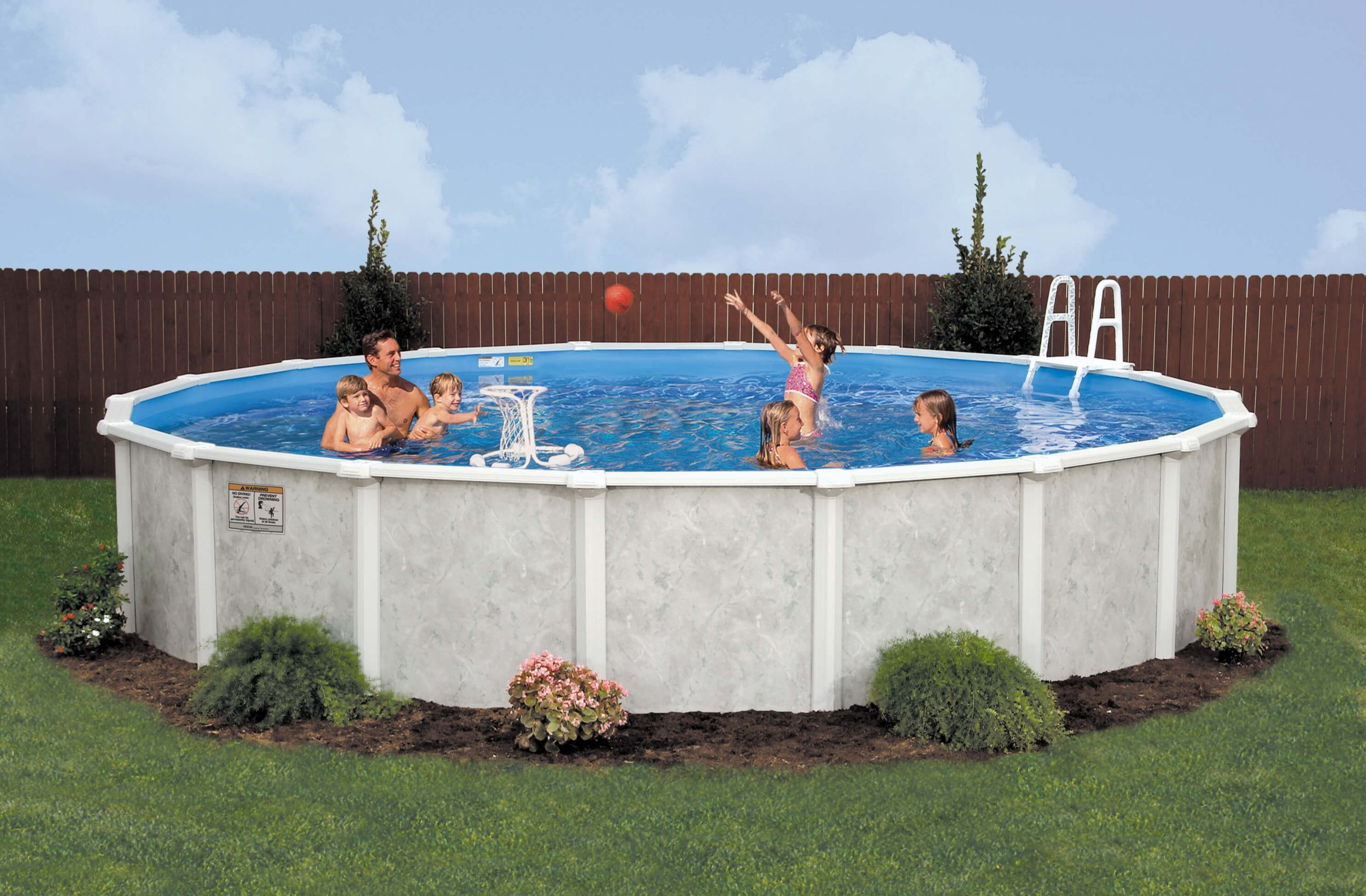 Above Ground Pool Manufacturers  Grey Mist Ground Pool
