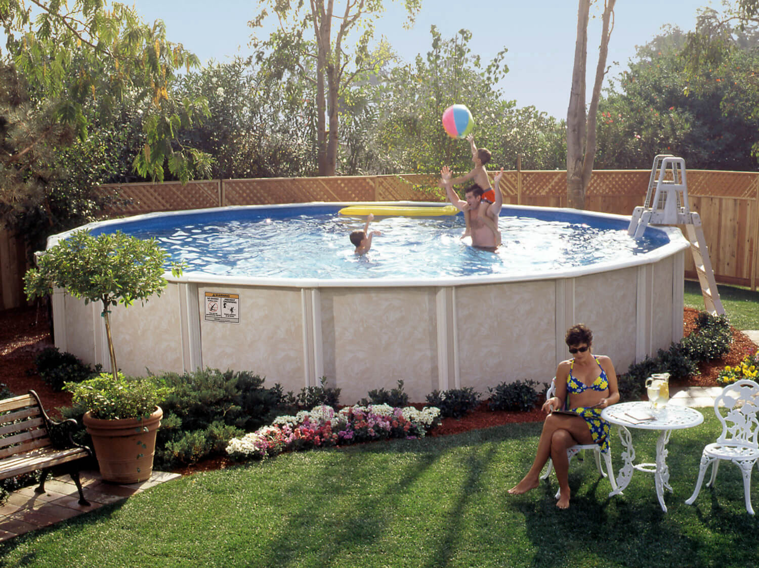 Above Ground Pool Manufacturers  Whispering Wind Two Ground Pool
