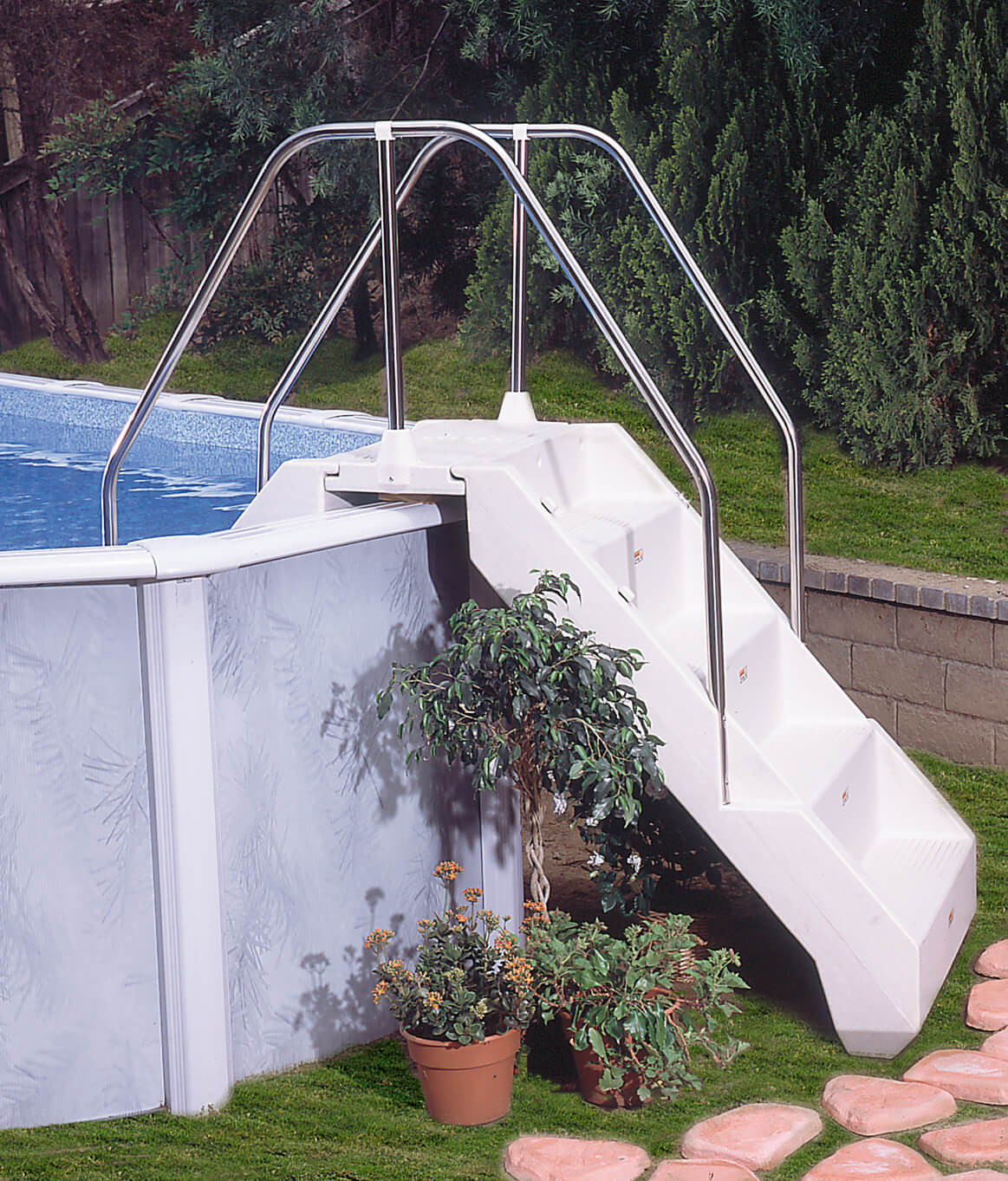 Above Ground Pool Manufacturers  Pool Entry Systems Ground Pools
