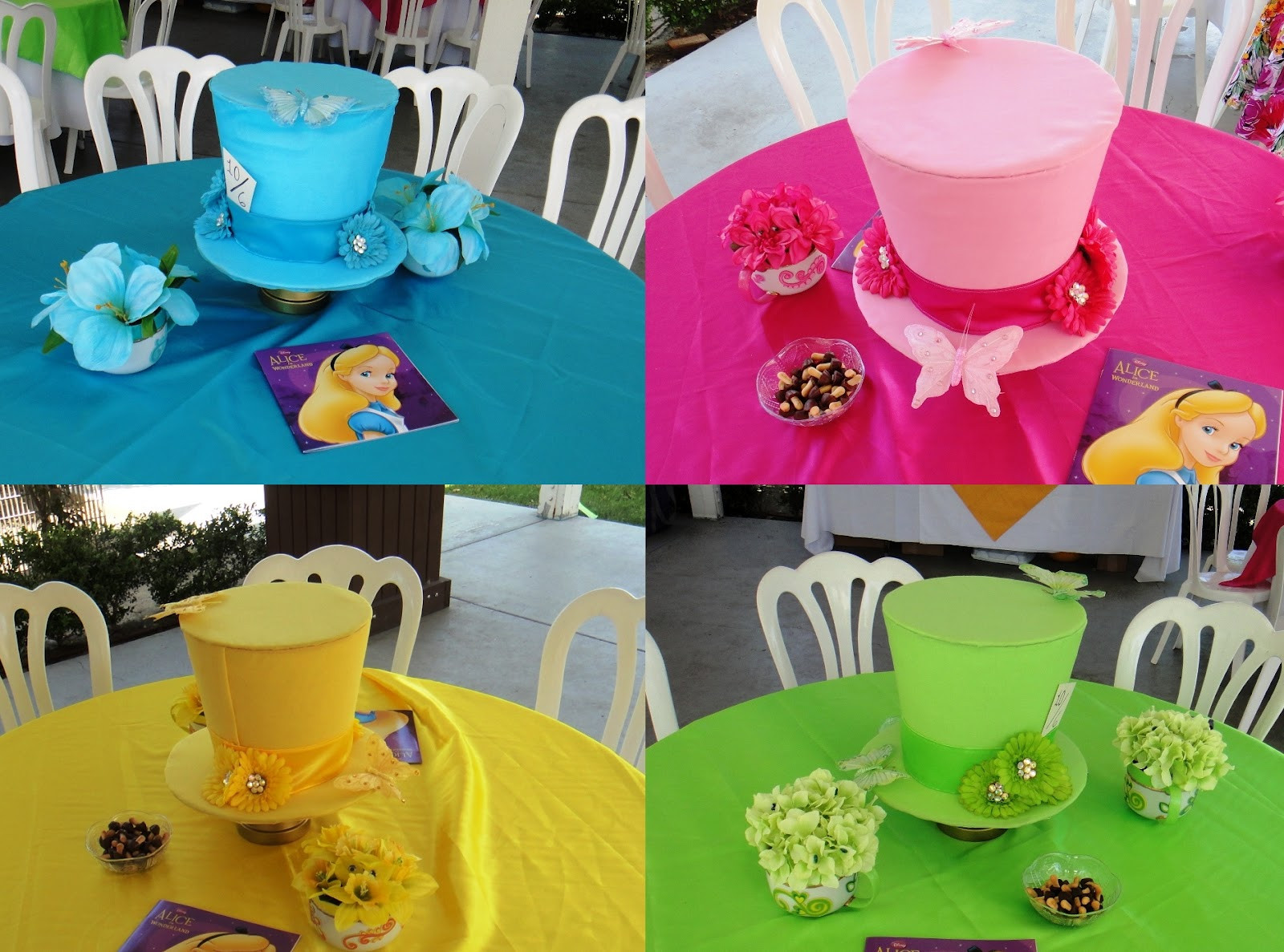 Alice In Wonderland Decorations DIY  DIY Mad Hatter Centerpieces This Fairy Tale Life