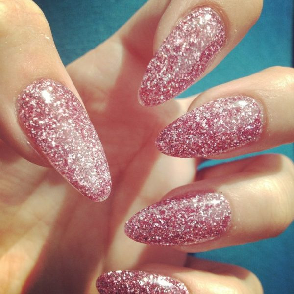 Almond Glitter Nails  Beautiful Art for Your Almond Shaped Nails Be Modish