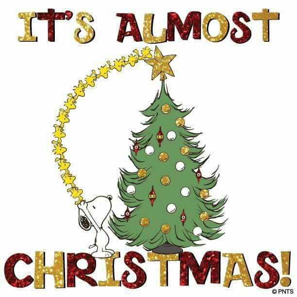 Almost Christmas Quotes  It s almost Christmas With Snoopy