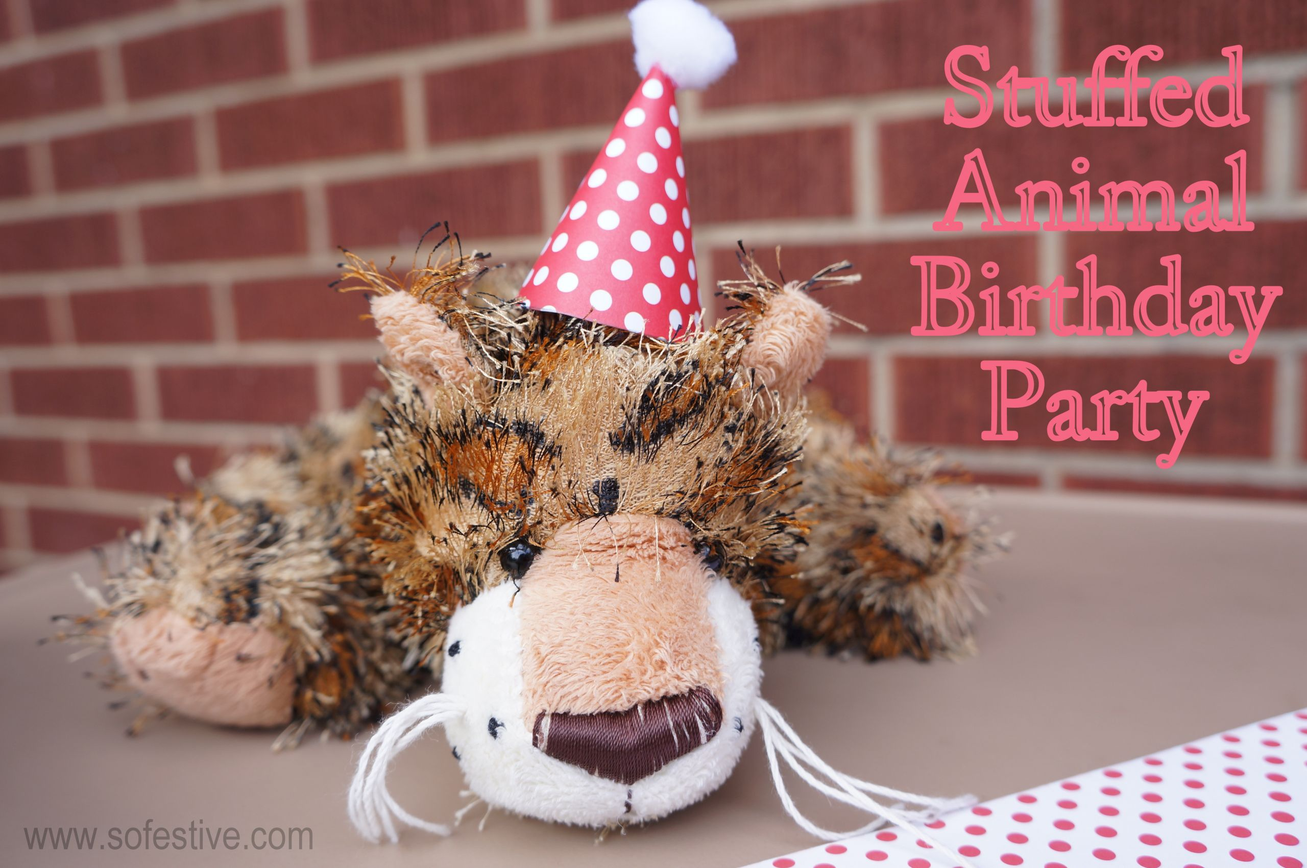 Animals For Kids Party  Stuffed Animal Birthday Party for Kids So Festive