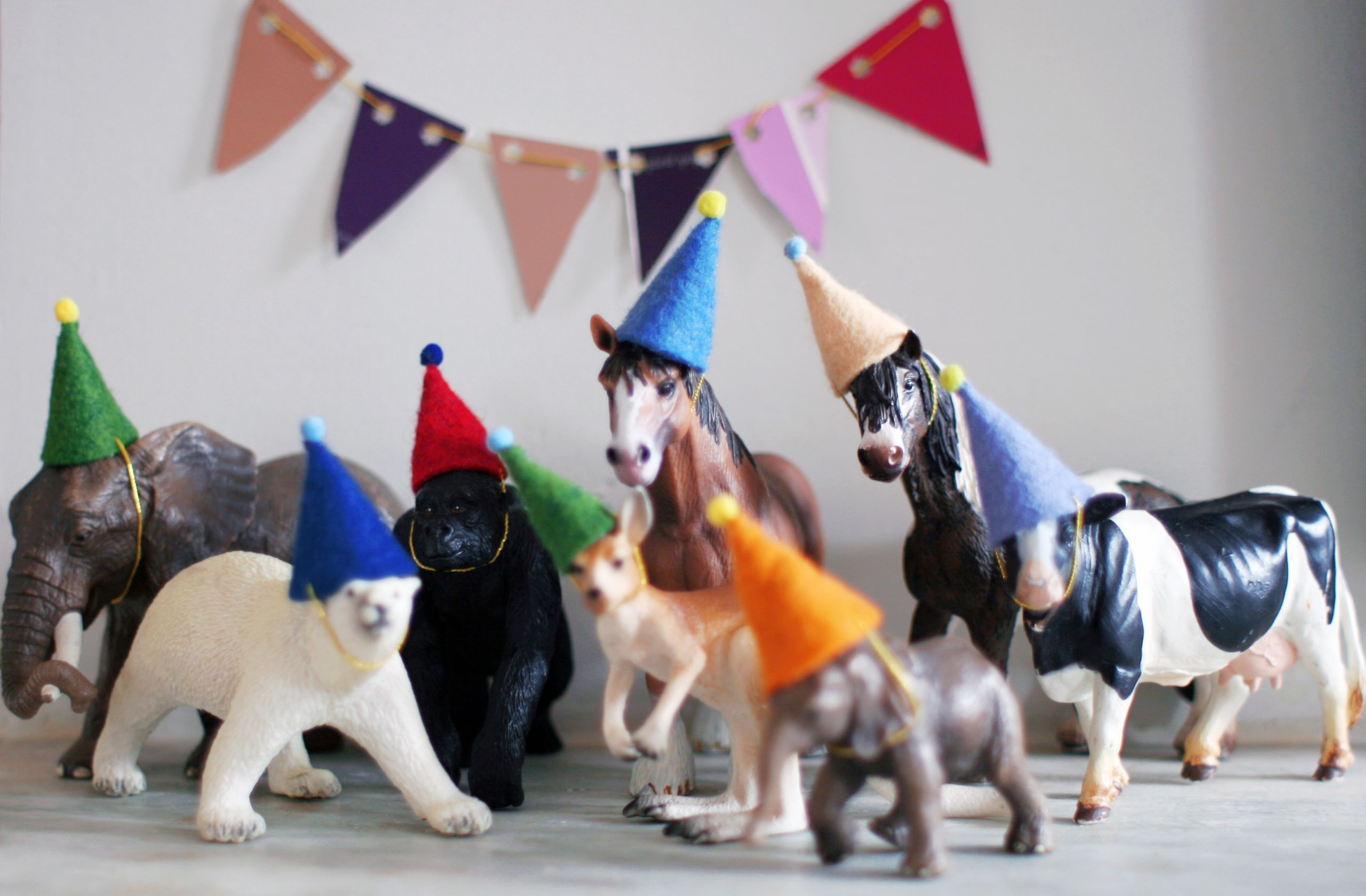 Animals For Kids Party  party hats for animals