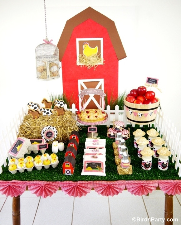 Animals For Kids Party  My Kids Joint Barnyard Farm Birthday Party Party Ideas