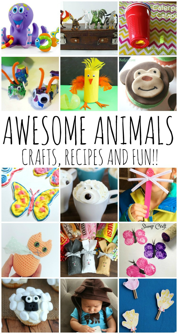 Animals For Kids Party  Awesome Animal Crafts Recipes and Kid Ideas and Block