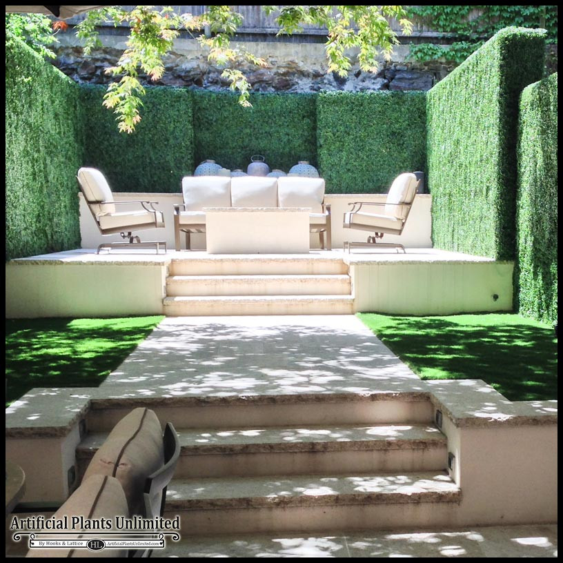 Artificial Outdoor Landscaping  Artificial Plants Buying Guide for Hedges Green Walls