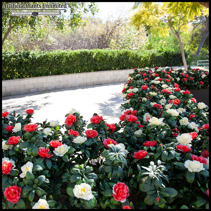 Artificial Outdoor Landscaping  Artificial Landscape Flowers and Plants