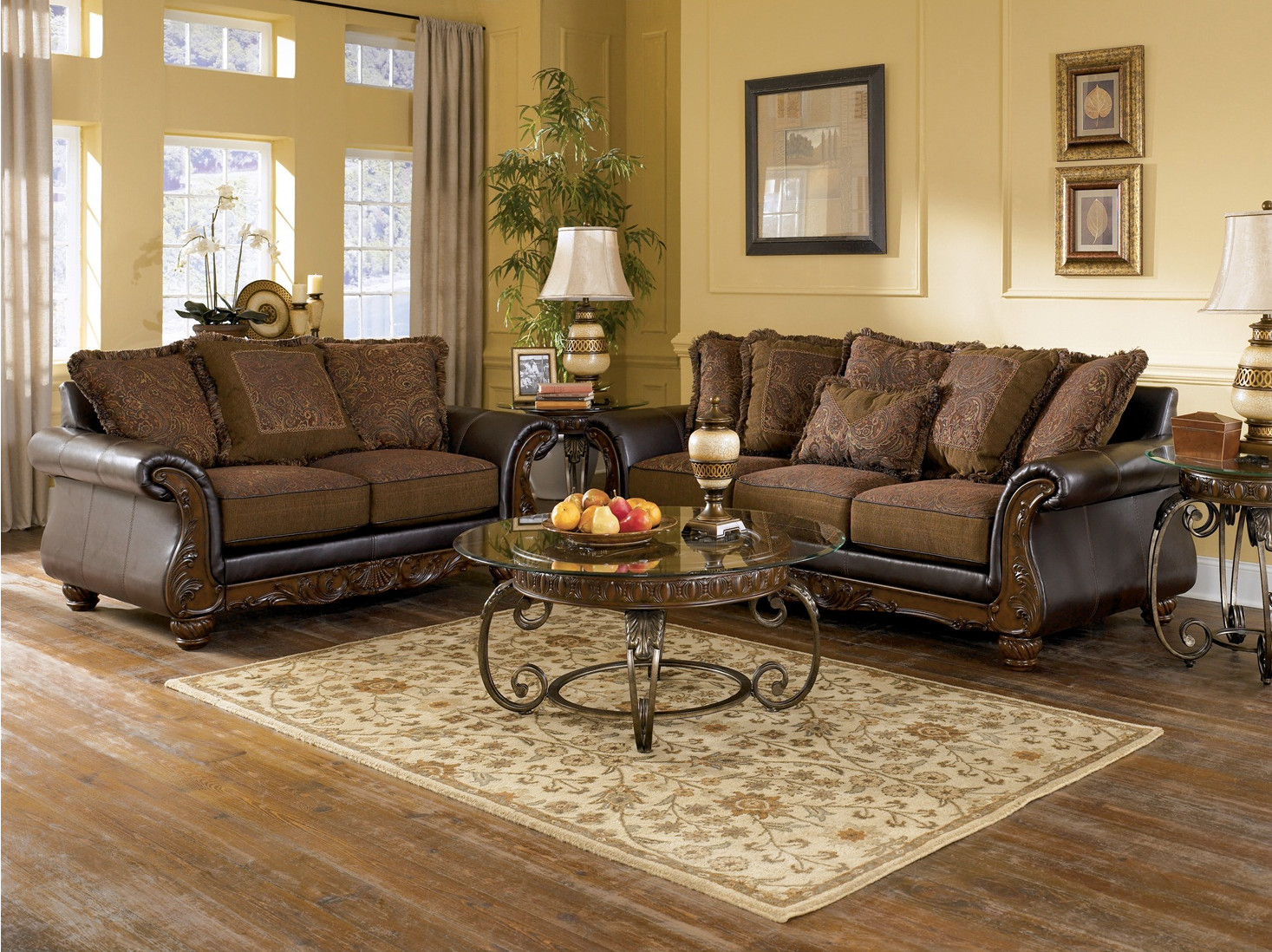 Ashley Furniture Living Room Tables  Wilmington Traditional Living Room Furniture Set by Ashley