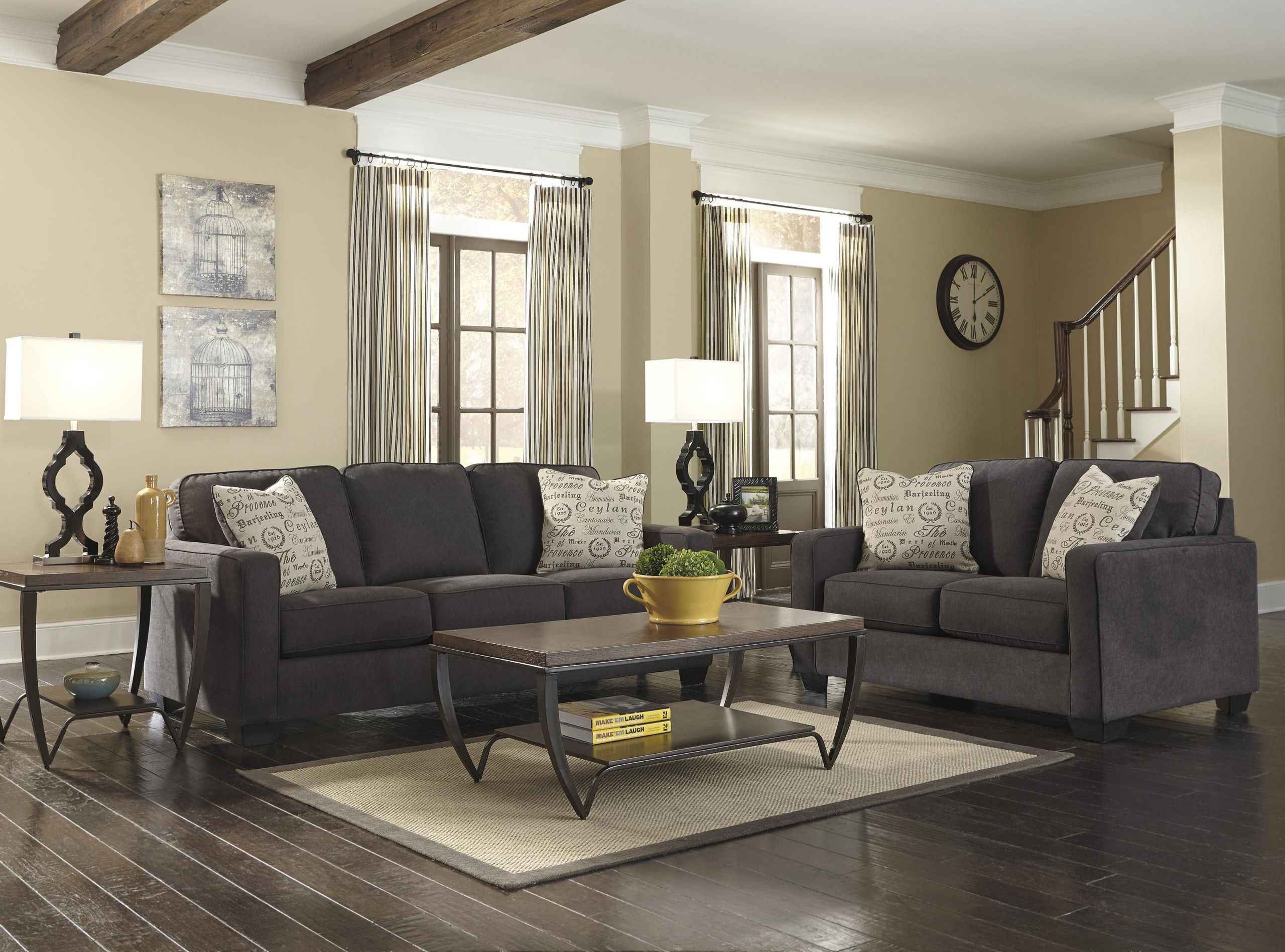 Ashley Furniture Living Room Tables  Signature Design by Ashley Alenya Charcoal Stationary