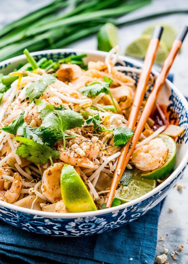 Authentic Tofu Pad Thai Recipe  This Pad Thai with Shrimp and Tofu gives you all the