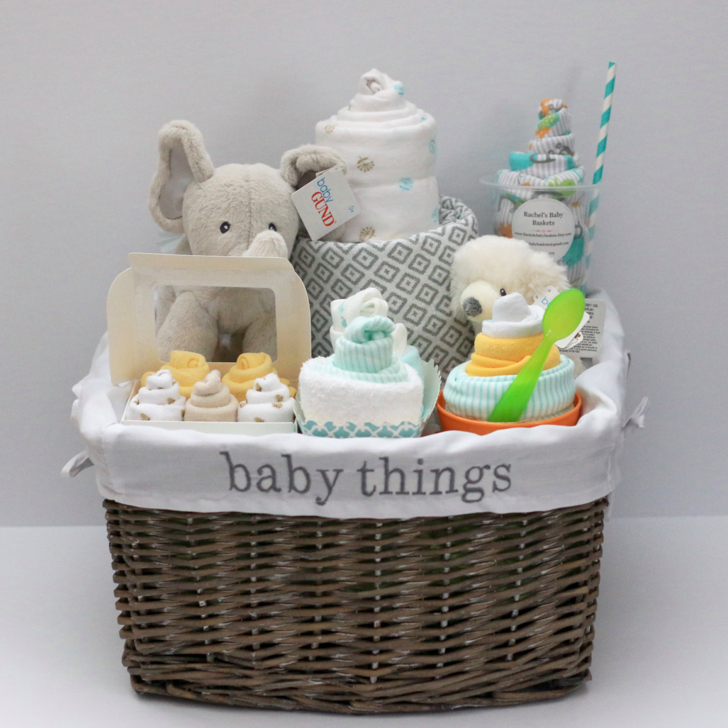 Awesome Baby Gift Ideas  Gender Neutral Baby Gift Basket Baby Shower Gift Unique Baby