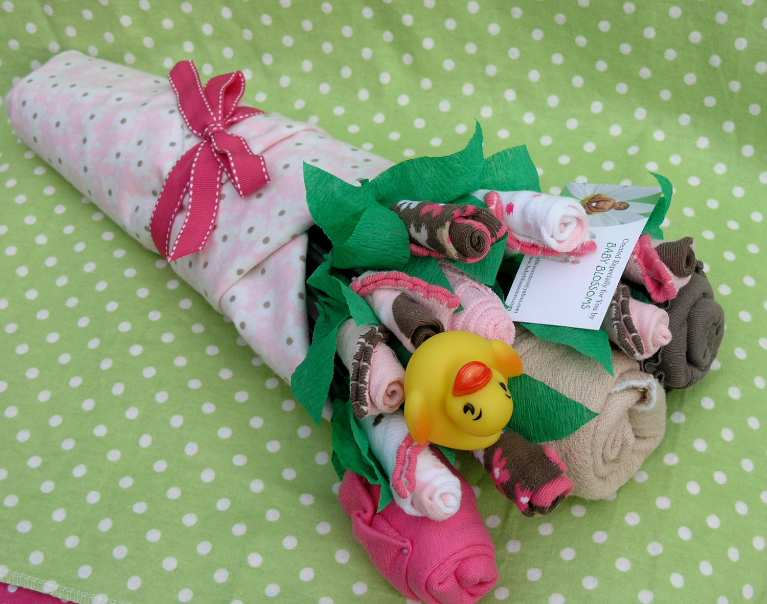 Awesome Baby Gift Ideas  Baby Clothes Bouquet for Girls Unique Baby by babyblossomco