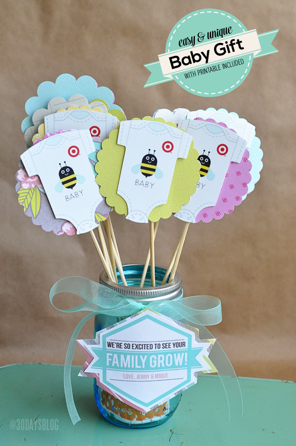 Awesome Baby Gift Ideas  Unique Baby Shower Gift Idea w Printable