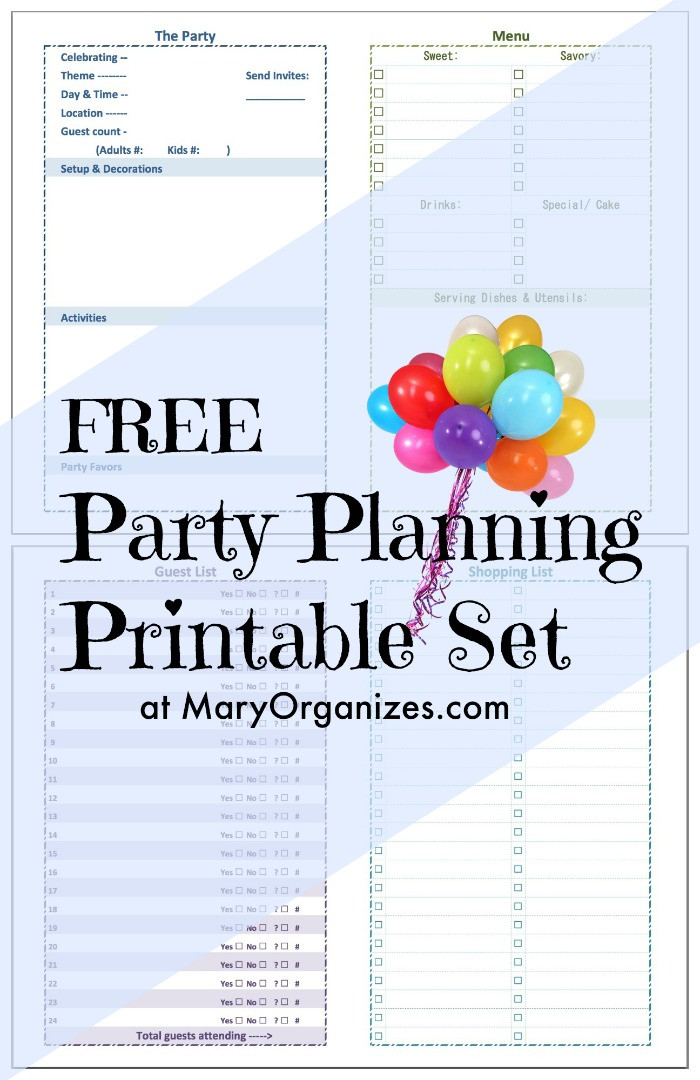 Baby Birthday Party Planner  Party Planning [Printable] Set creatingmaryshome