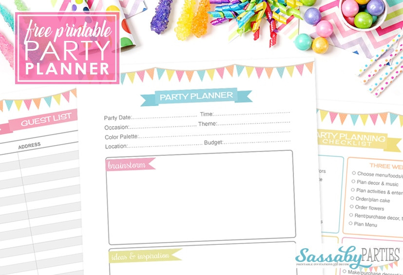 Baby Birthday Party Planner  Party Planner Free Printable 14 Pages The Sassaby Party Co