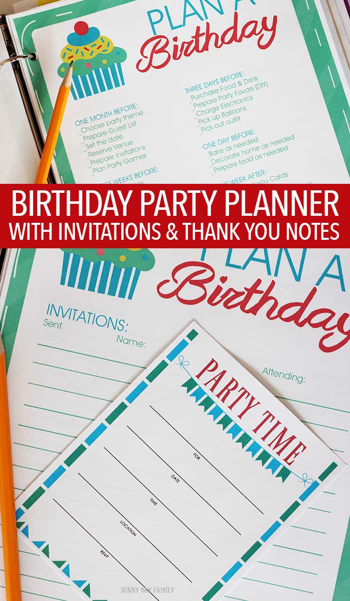 Baby Birthday Party Planner  All in e Birthday Party Planner Printable Set
