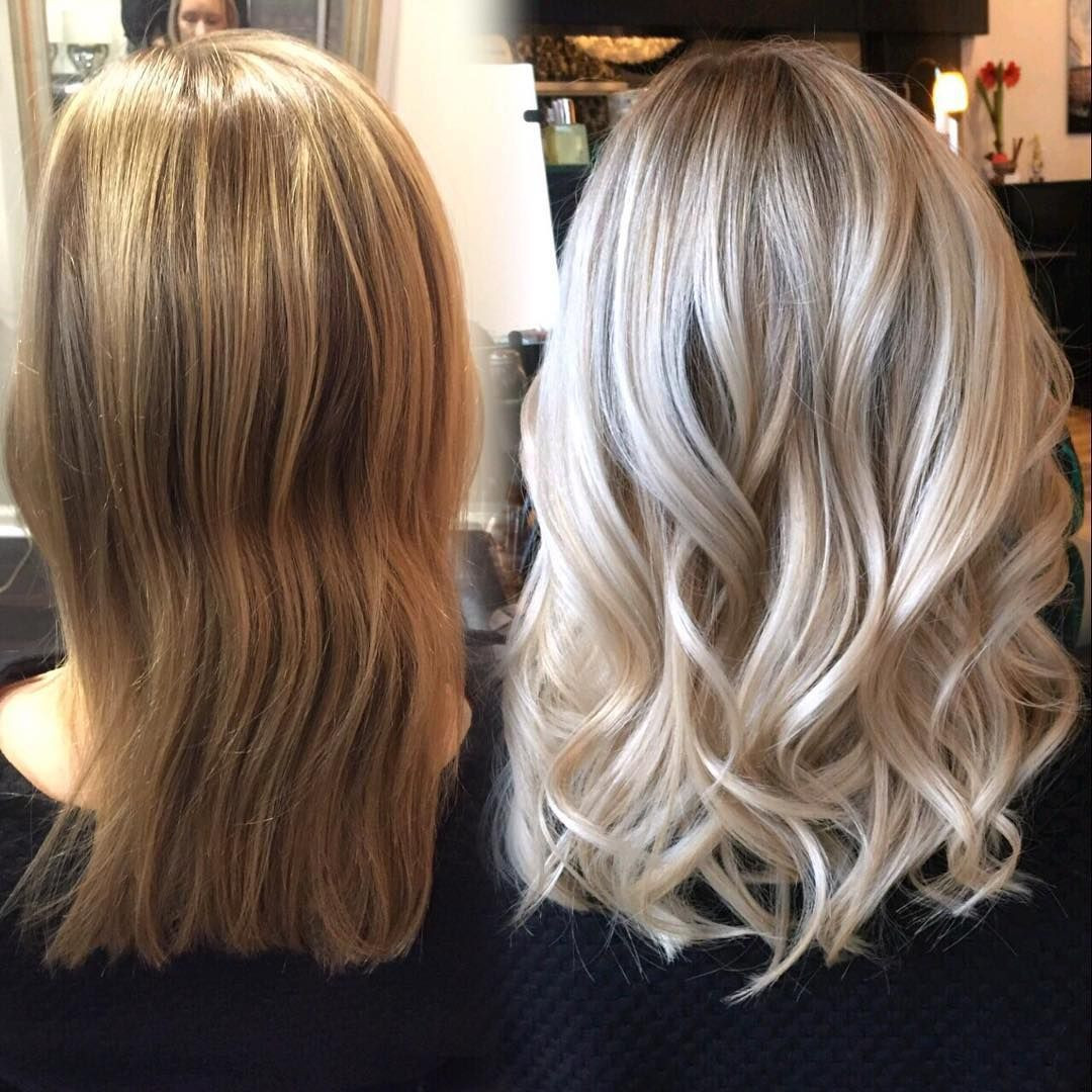 """Baby Blonde Hair  """"Love this transformation from brassy to bright baby"""