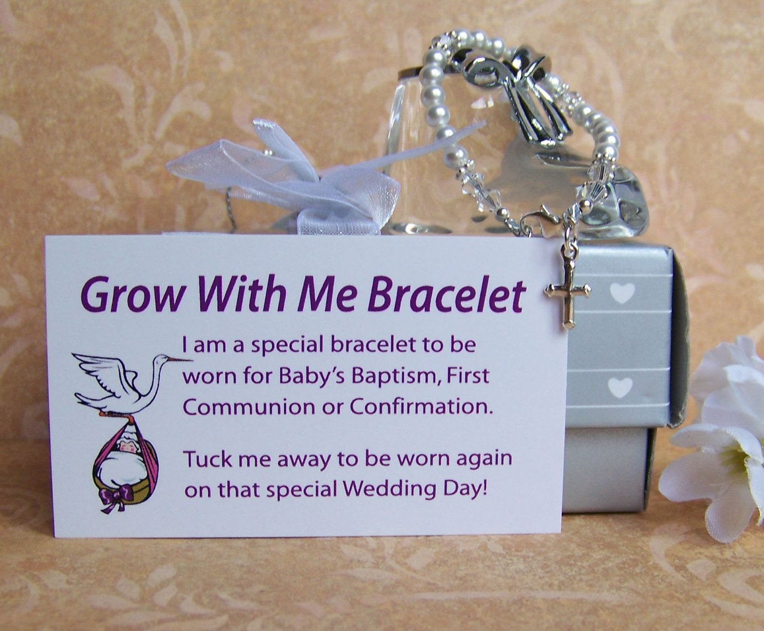 Baby Boy Christening Gift Ideas  Baby Girl Baptism Bracelet Grow With Me by luckycharm5286