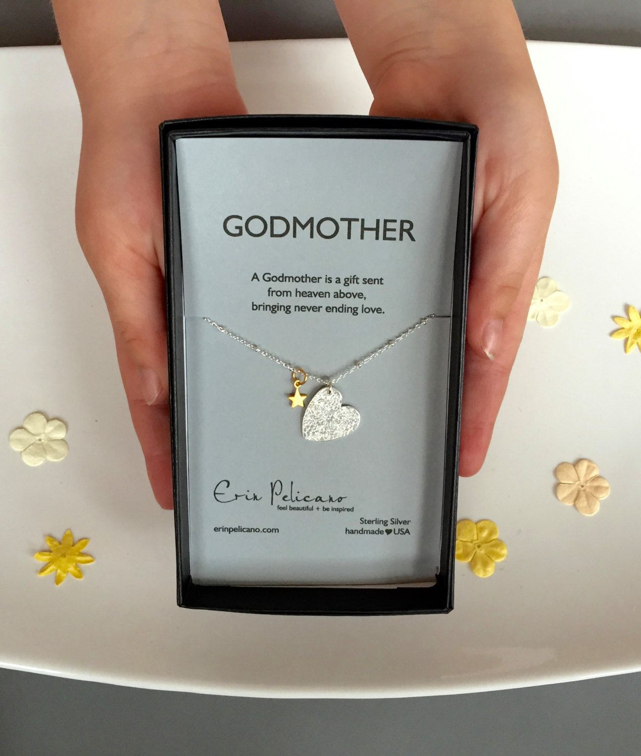 Baby Boy Christening Gift Ideas  Godmother Necklace Will You Be My Godmother
