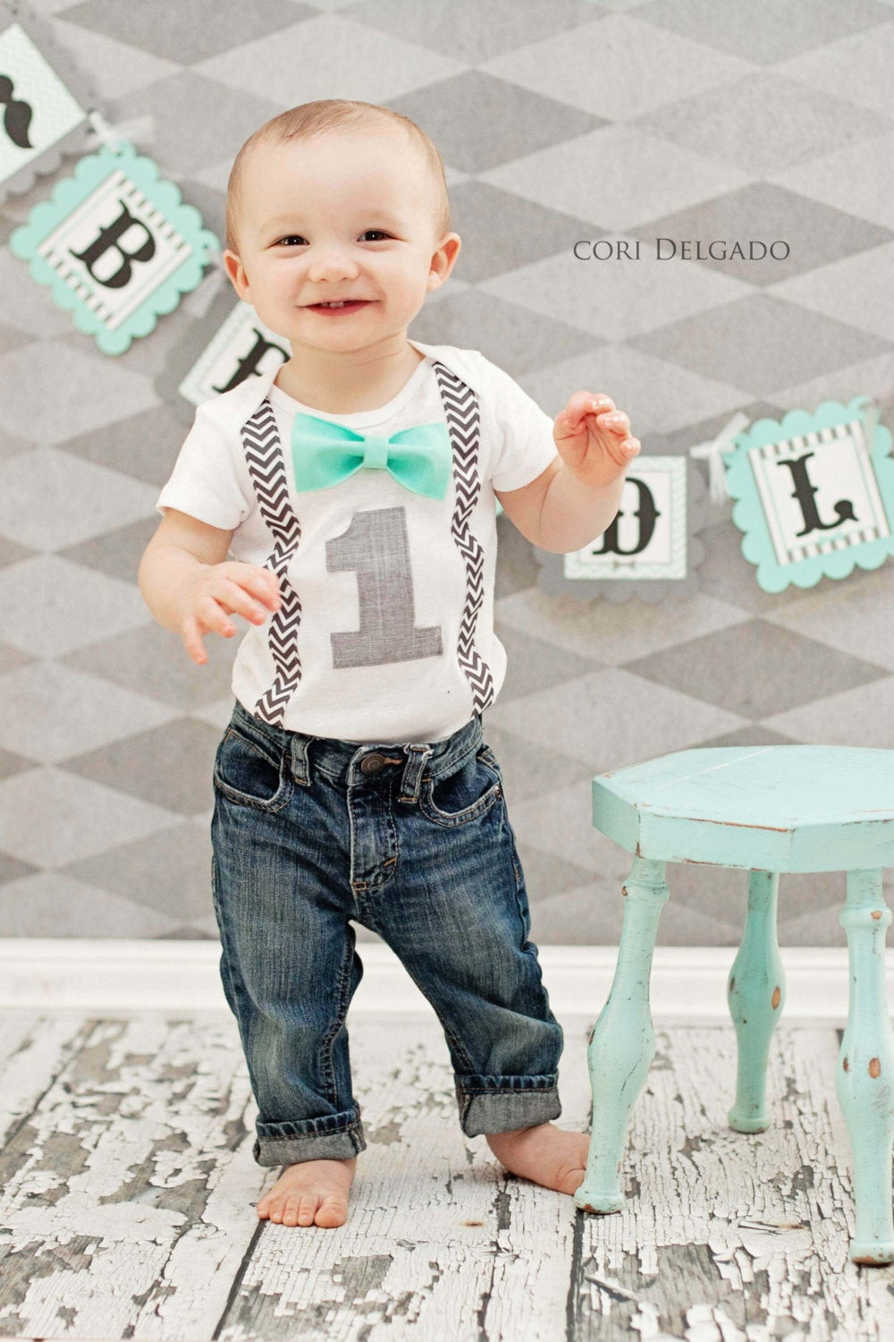 Baby Boy Party Clothes  Boys First Birthday Outfit Baby Boy Clothes Grey by