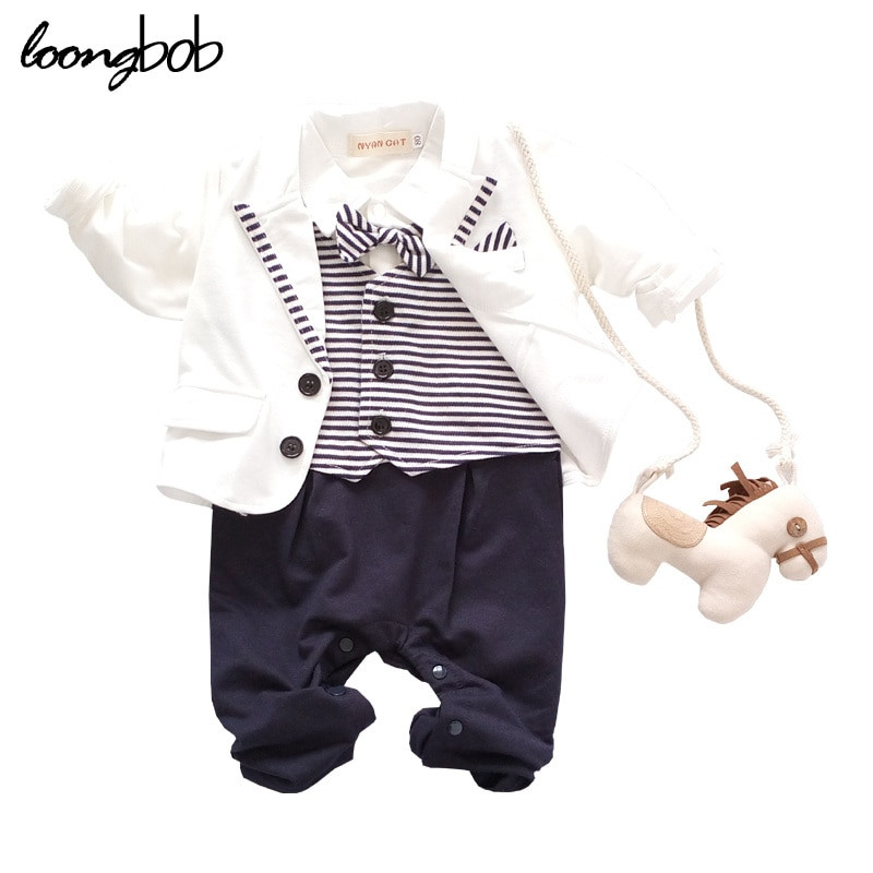 Baby Boy Party Clothes  2016 Baby Boy Party Suit 2pcs White Gentleman Suit