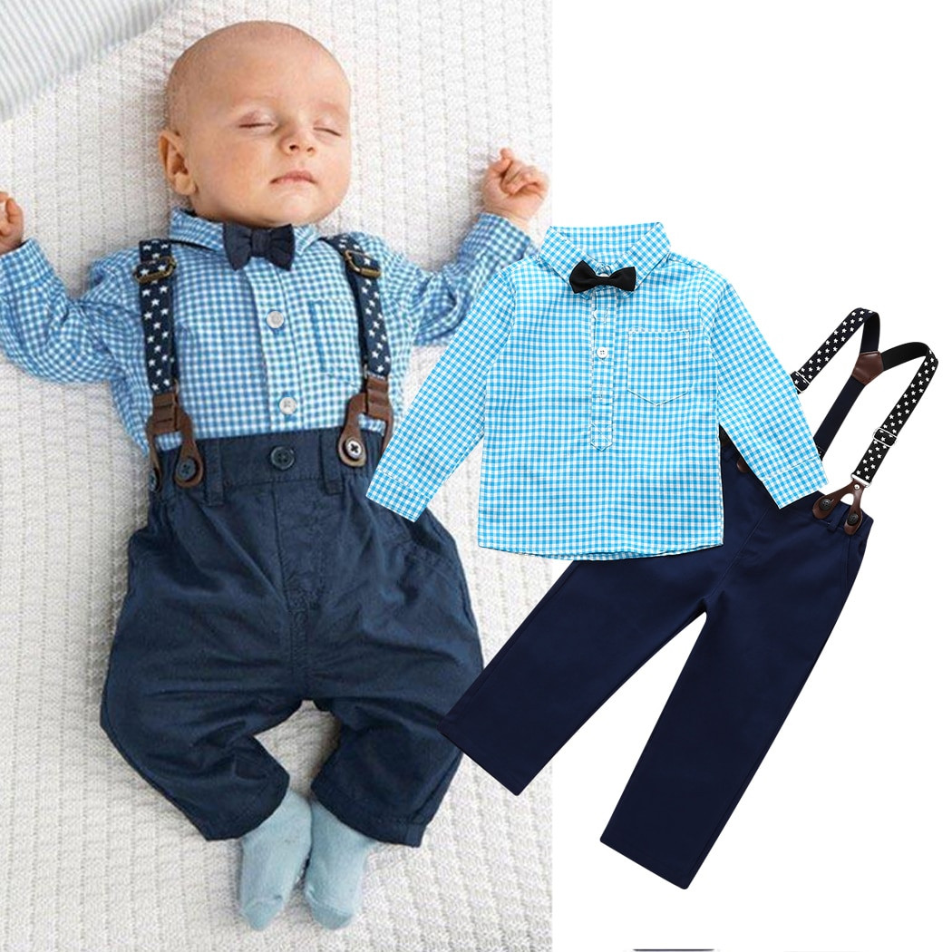Baby Boy Party Clothes  2017 NEW 2PCS Newborn Kids Clothes Set Baby Boys Outfits T