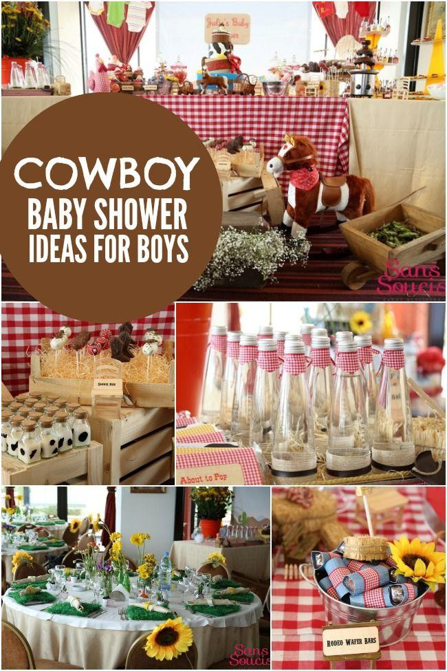 Baby Boy Themed Party  Bouncing Baby Buckaroo Cowboy Themed Baby Shower