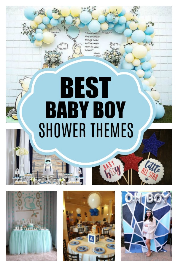 Baby Boy Themed Party  Awesome Boy Baby Shower Themes Pretty My Party Party Ideas