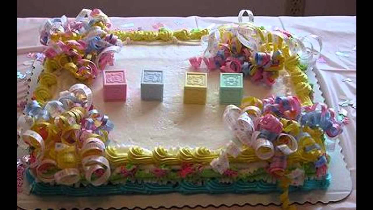 Baby Cake Decorations Ideas  Simple Baby shower cake decorating ideas