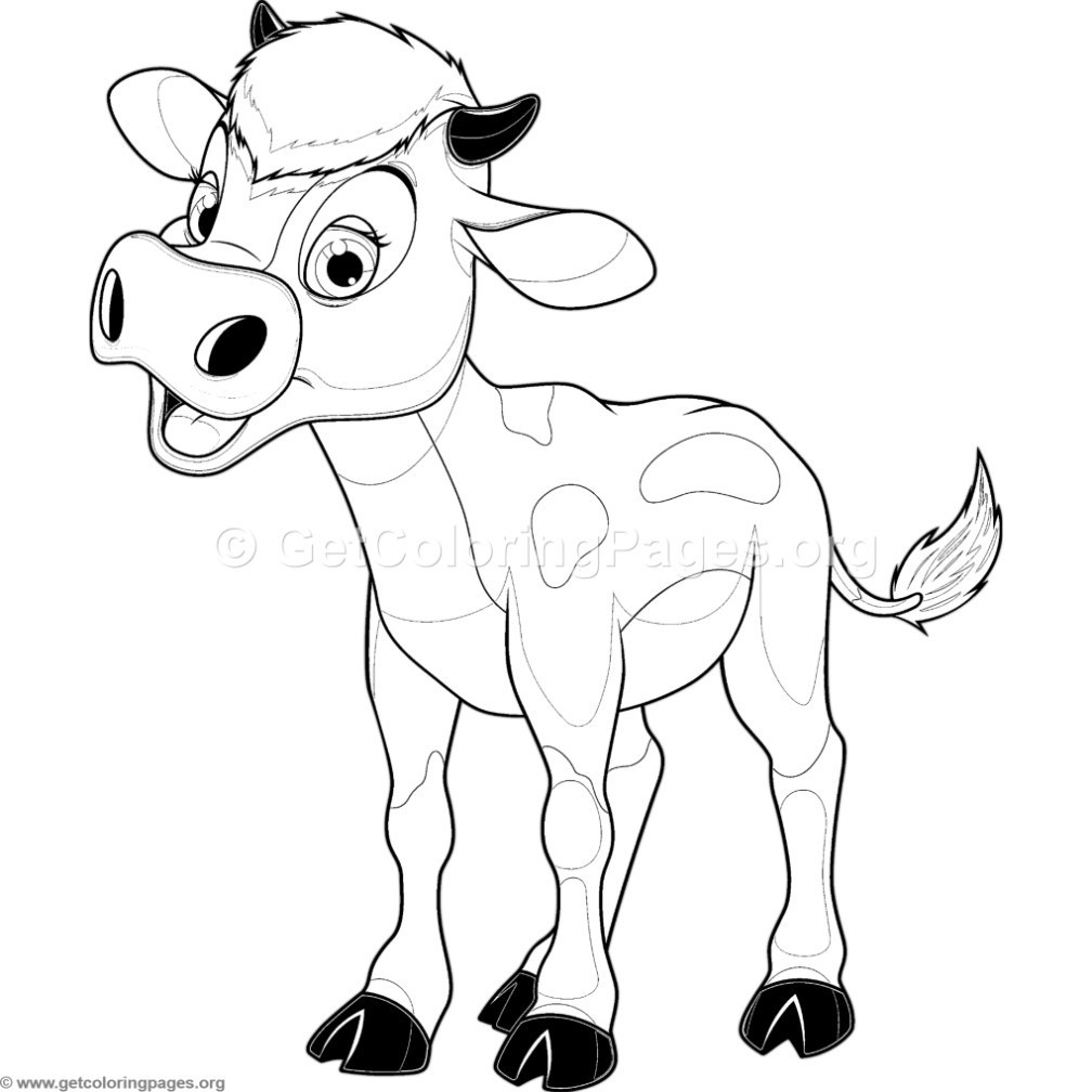 Baby Cow Coloring Pages  Baby Cow Coloring Pages – GetColoringPages