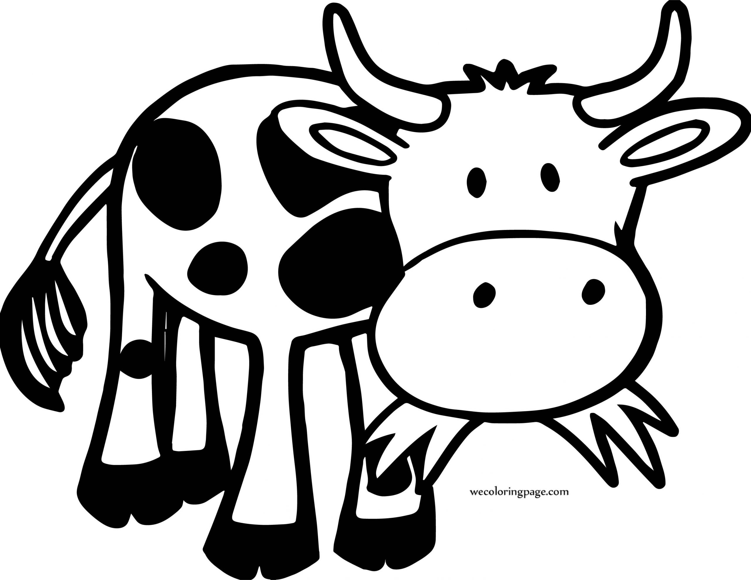 Baby Cow Coloring Pages  Baby Cow Coloring Page