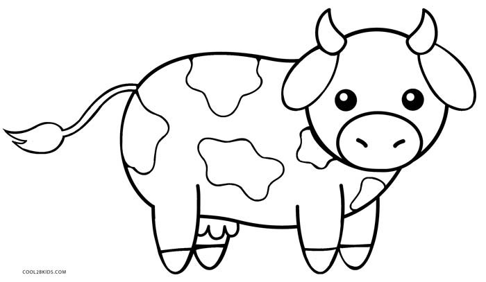Baby Cow Coloring Pages  Free Printable Cow Coloring Pages For Kids