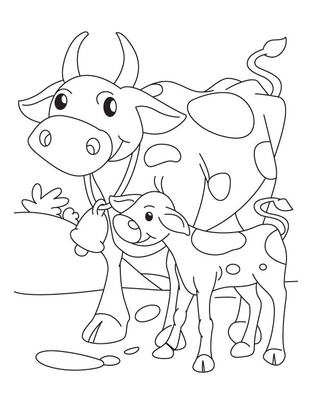 Baby Cow Coloring Pages  Baby Cow Drawing at GetDrawings