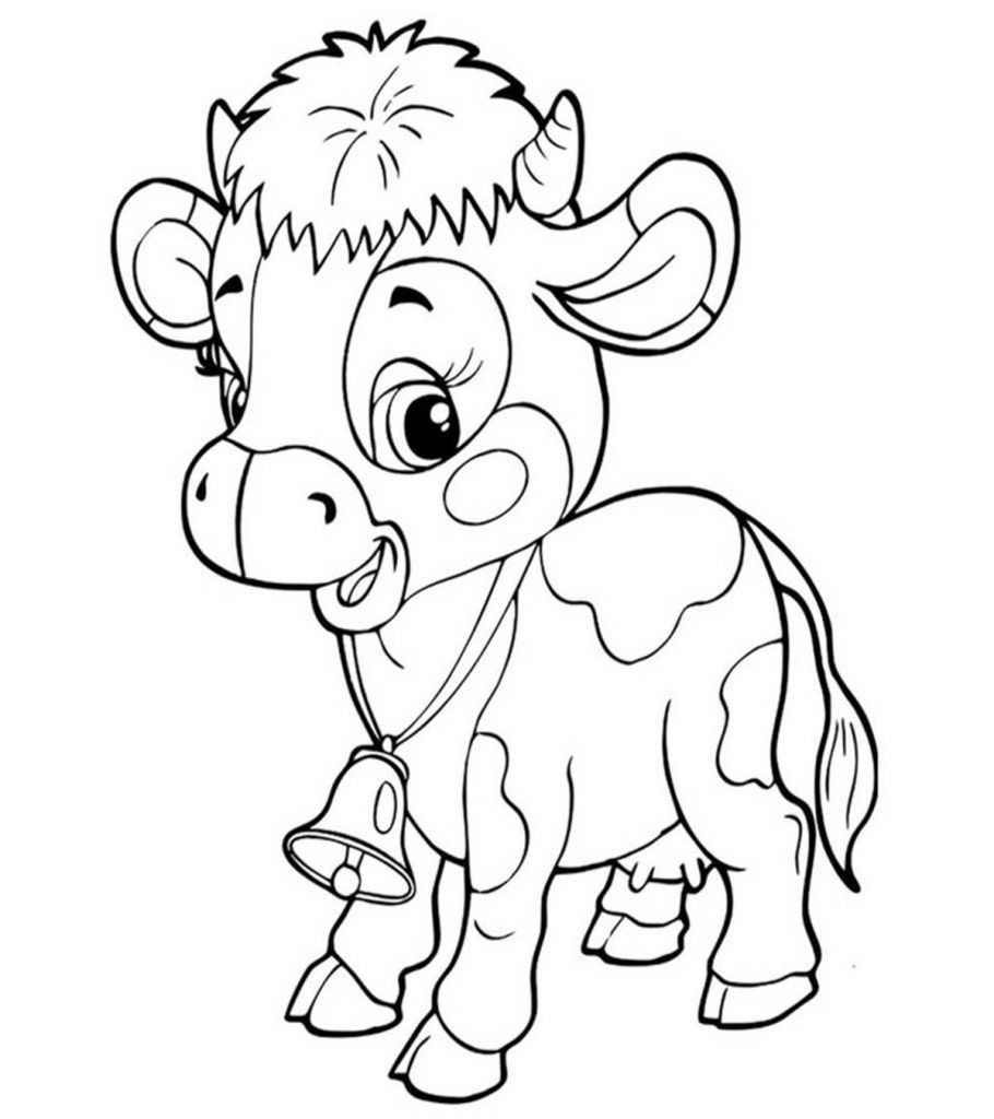 Baby Cow Coloring Pages  Top 15 Free Printable Cow Coloring Pages line