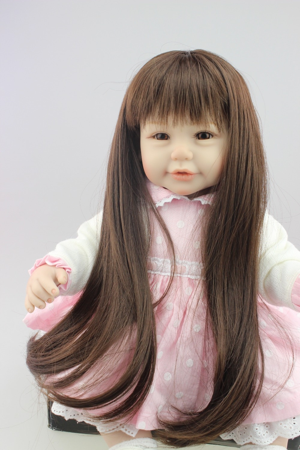 Baby Doll With Long Hair  Aliexpress Buy 2015 NEW design Reborn toddler girl