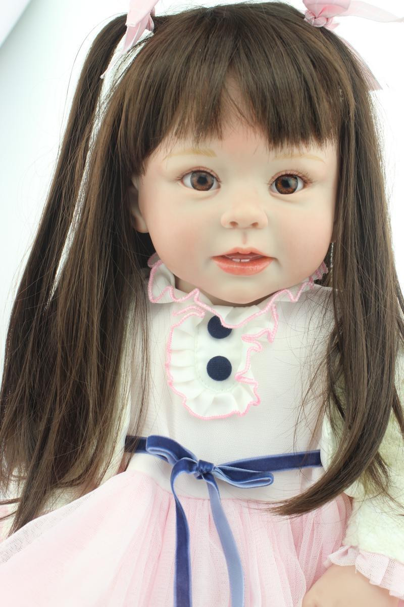 Baby Doll With Long Hair  size 70CM silicone reborn toddlers baby dolls lovely