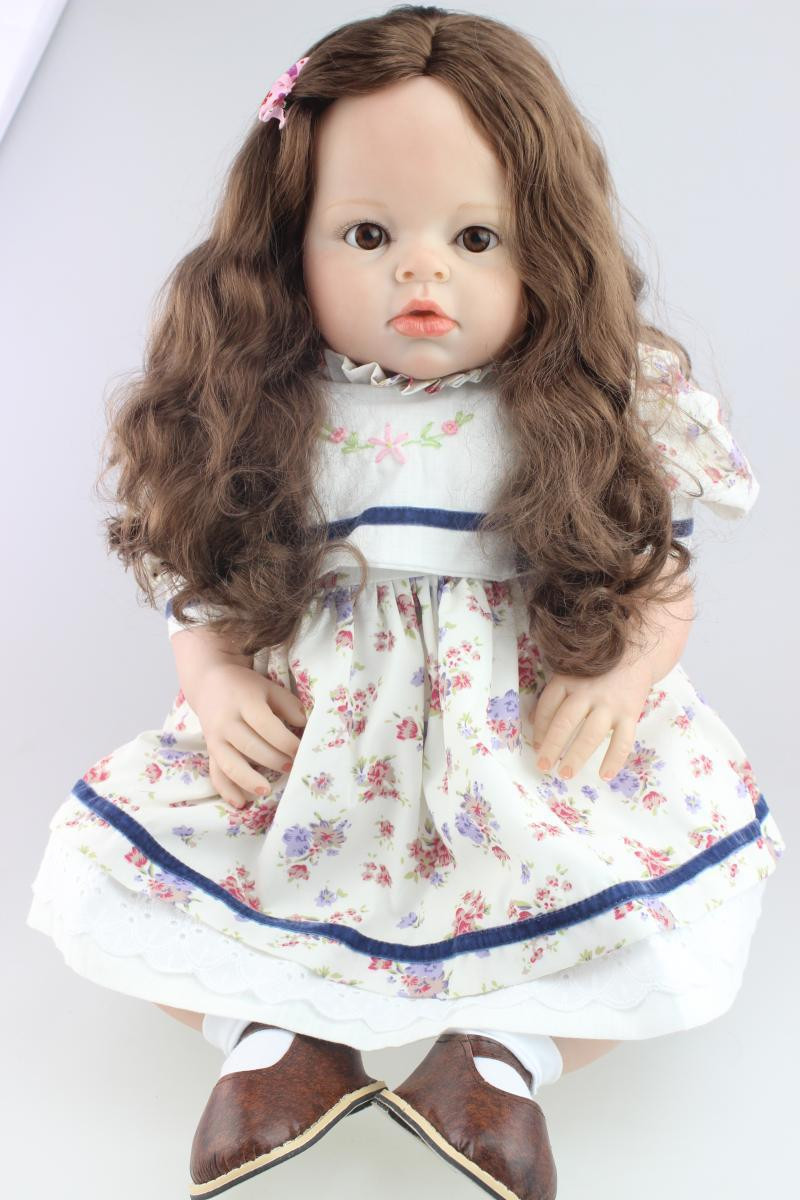 Baby Doll With Long Hair  Aliexpress Buy 70cm Silicone Reborn Baby Doll Toys