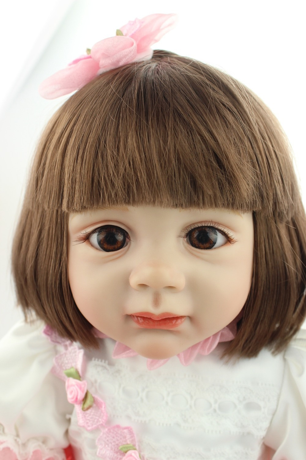 Baby Dolls With Hair  Aliexpress Buy 2015 new design 24inch Reborn Toddler