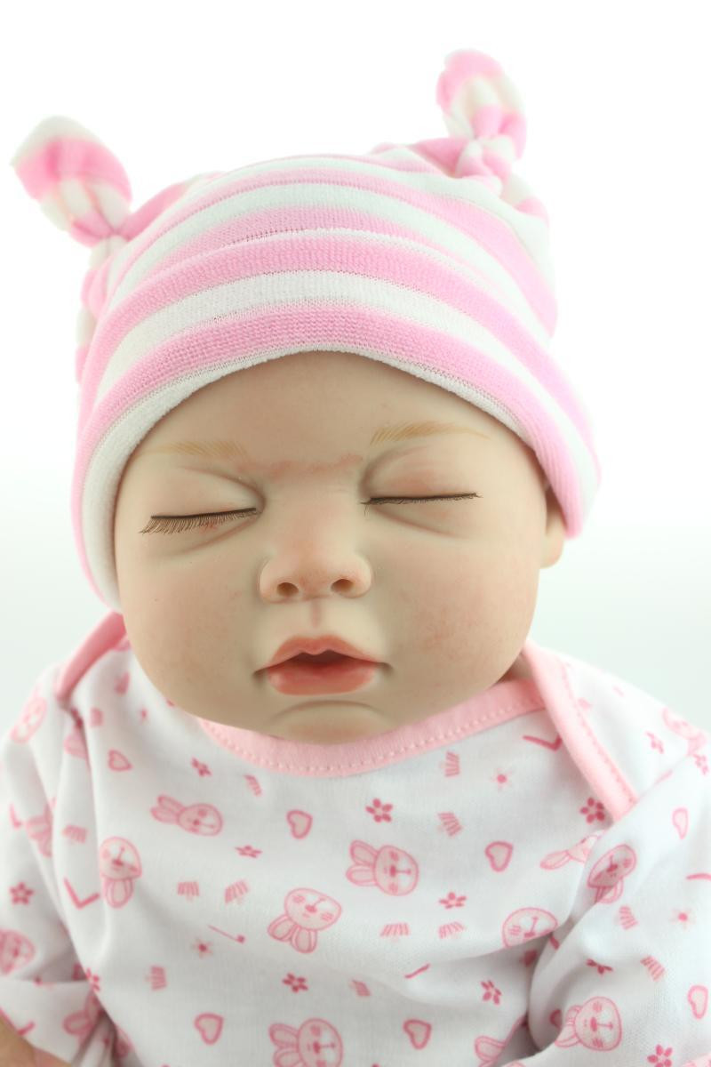Baby Dolls With Hair  58CM full silicone real reborn babies dolls hair
